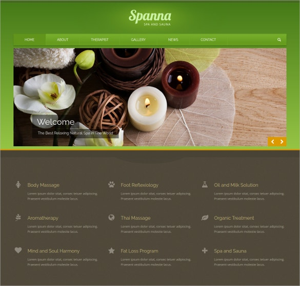 HealthCare Beauty Spa Website Template