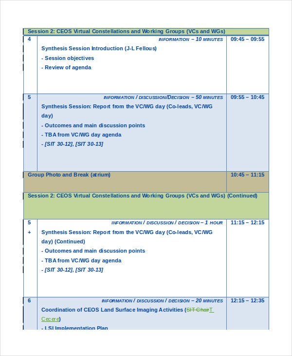 SIT Workshop Agenda