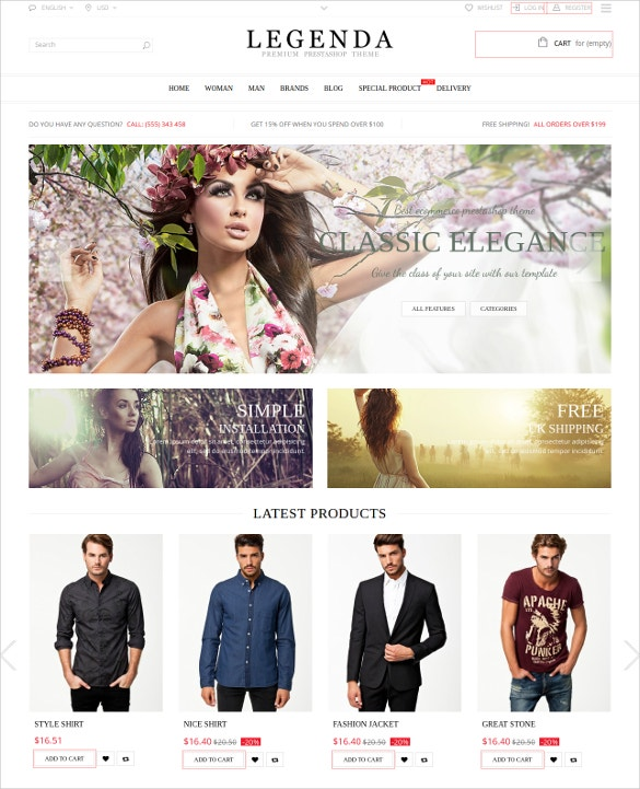Responsive Multi-Purpose Portfolio Prestashop Theme