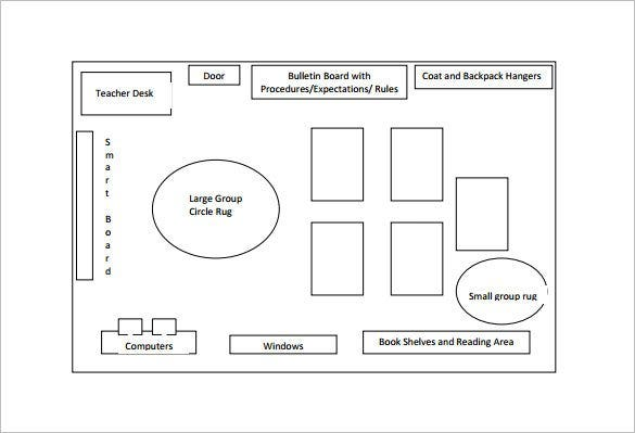 Classroom seating chart template 16 examples in pdf for Room design layout templates