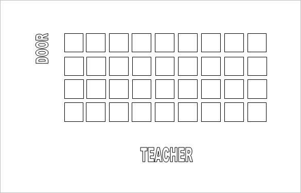 Classroom Seating Chart Template 14 Examples in PDF Word – Printable Seating Charts