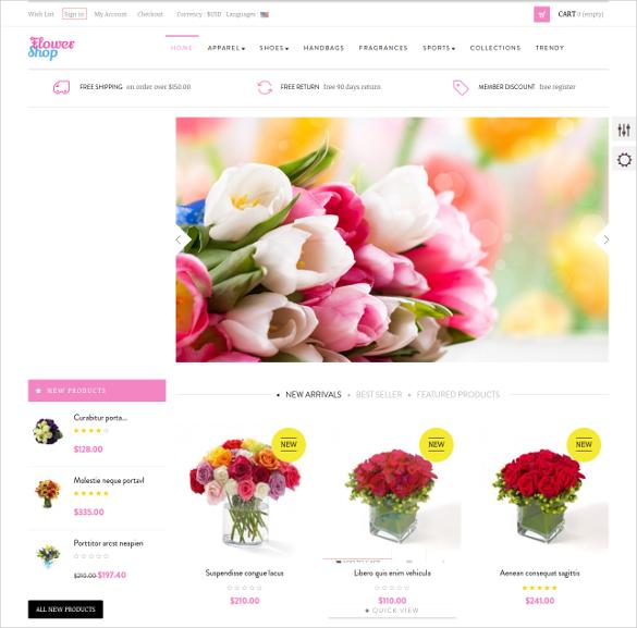 Flowers Shop Portfolio Prestashop Theme