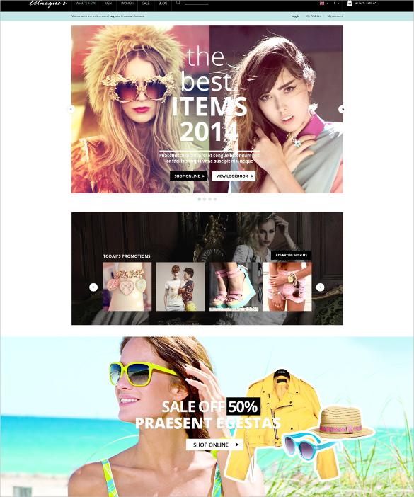 responsive fashion portfolio opencart theme