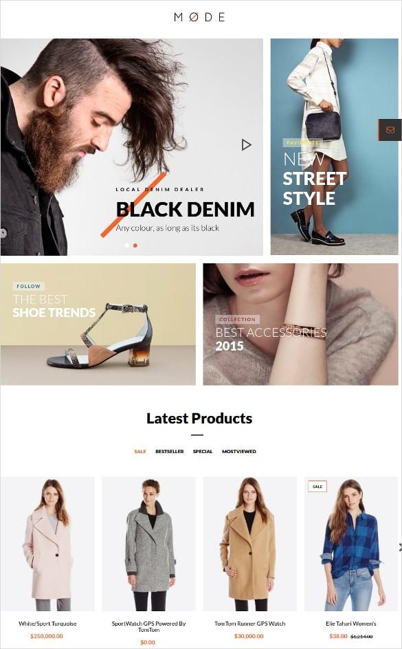 portfolio modern fashion opencart theme