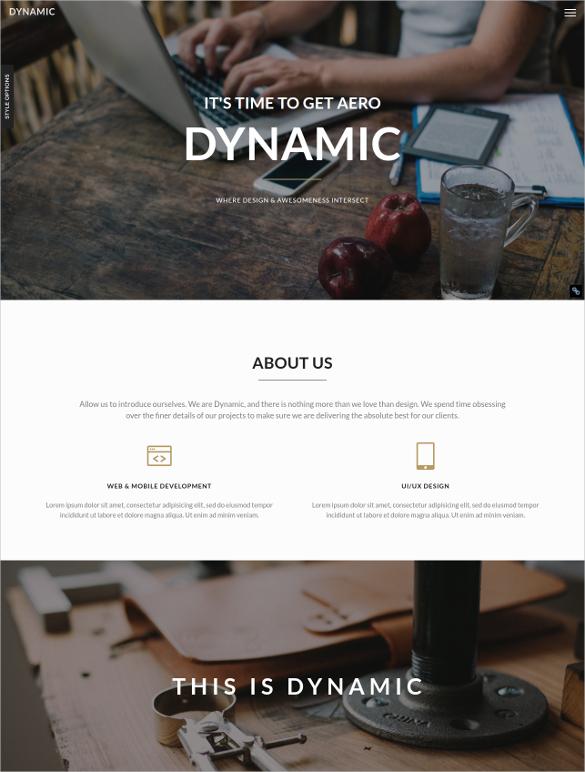 Dynamic Portfolio PHP Template