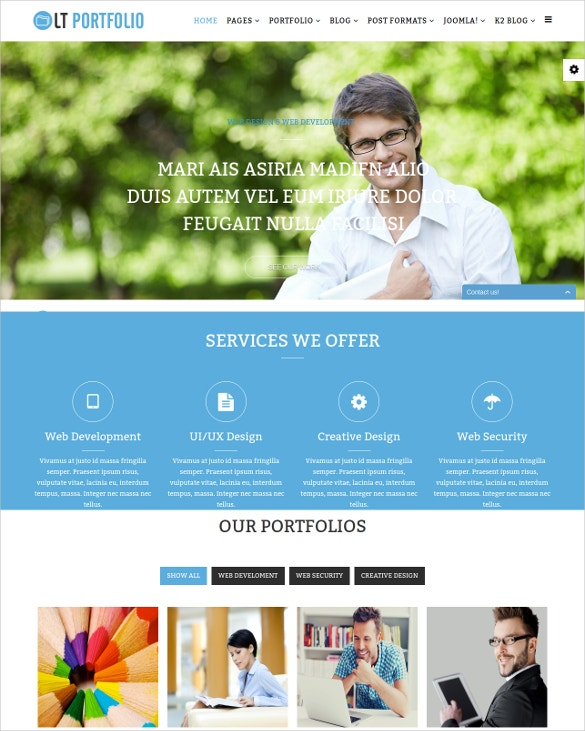 Premium Responsive Portfolio Joomla Template