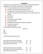 medical death note template - 167 note templates free sample example pdf psd eps