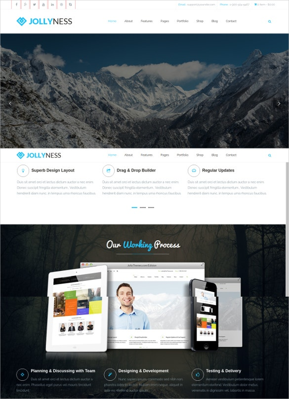 Portfolio Business Joomla Template