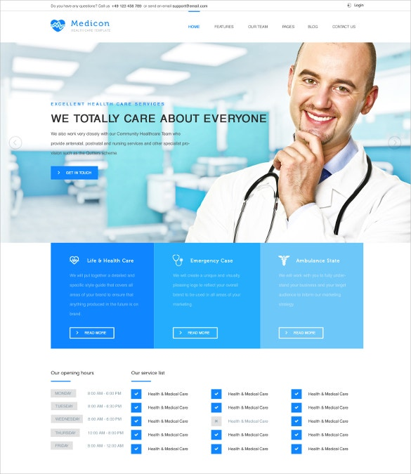 doctor html php template