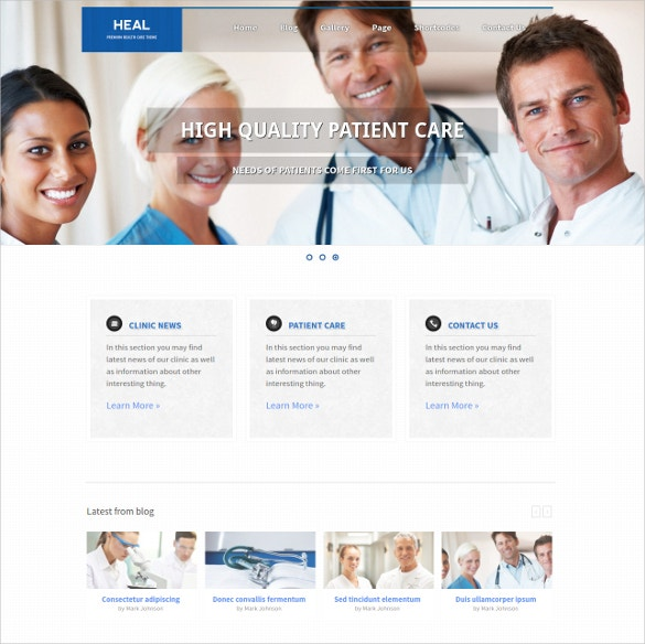 Responsive Doctor WordPress PHP Template
