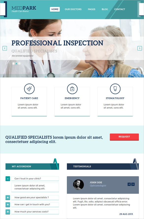 Health Care Doctor WP PHP Theme
