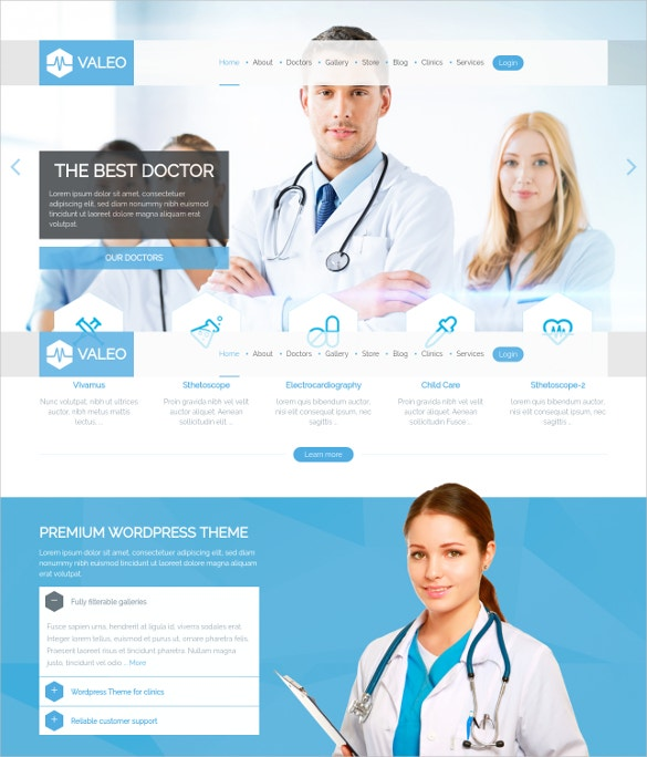 responsive medical doctor php theme