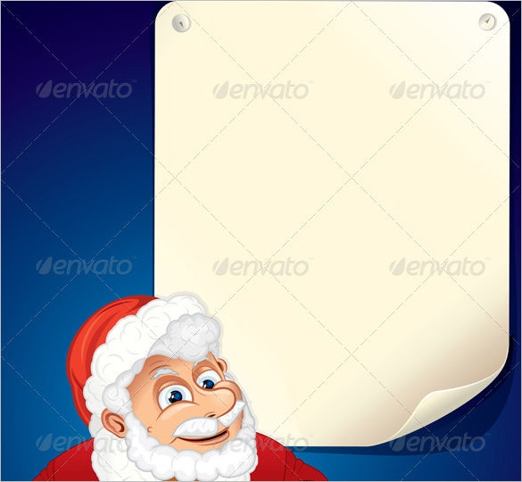 cartoon santa claus blank invitation template vector eps format