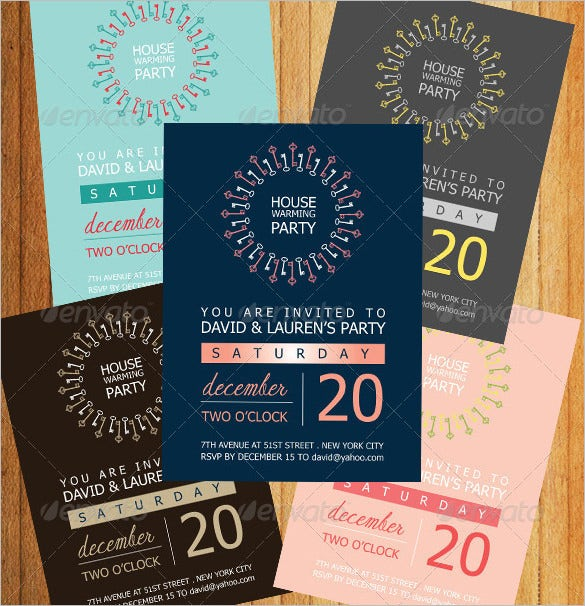 housewarming invitation template illustrator design