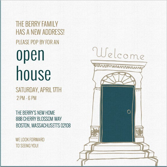 open house warming invitation template download