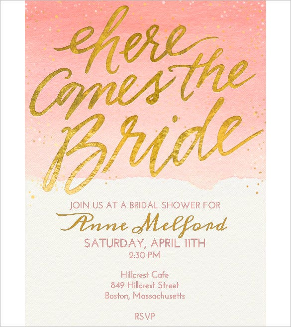 Wedding invitation template 71 free printable word pdf for Free bridal shower templates