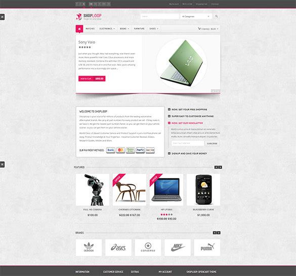 responsive html5 opencart theme