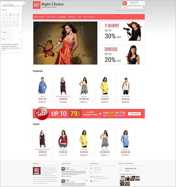 right choice responsive html5 opencart theme