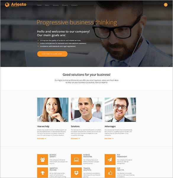 consulting responsive html5 website template