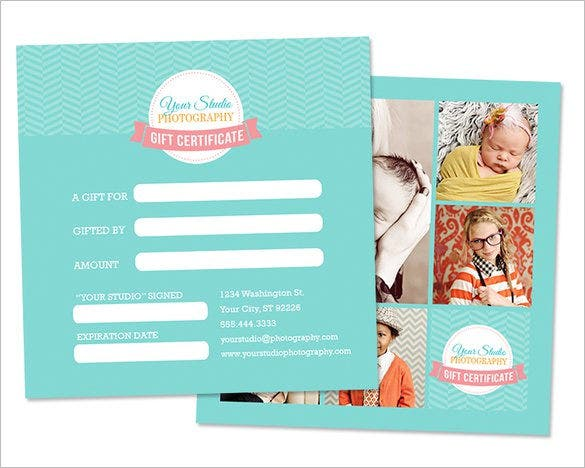 Gift certificate template 34 free word outlook pdf for Photoshoot gift certificate template