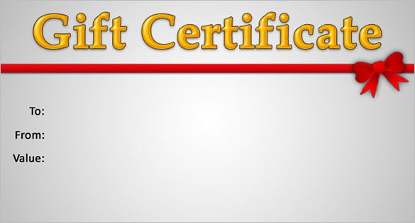 Gift certificate template 34 free word outlook pdf for Gift certificate template for mac