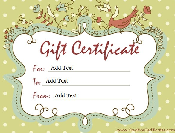 Gift certificate template 34 free word outlook pdf for Make your own gift certificate template