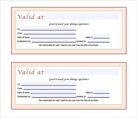 Gift Certificate Template Pdf Free - Gift Ideas