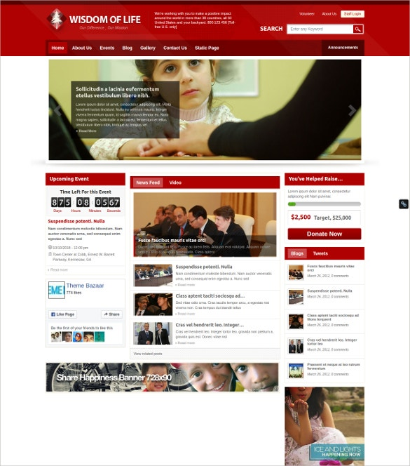 Charity Magento & WordPress Themes