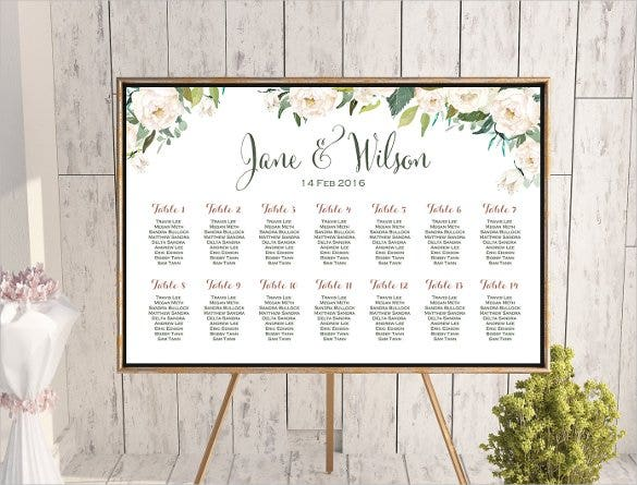 34 wedding seating chart templates pdf doc free