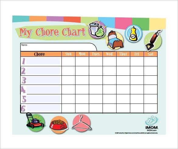 customizable weekly chore chart free pdf downlaod1