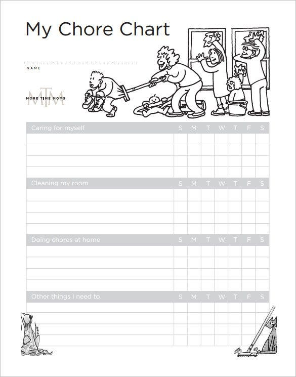 weekly chore chart for kids free pdf downlaod1