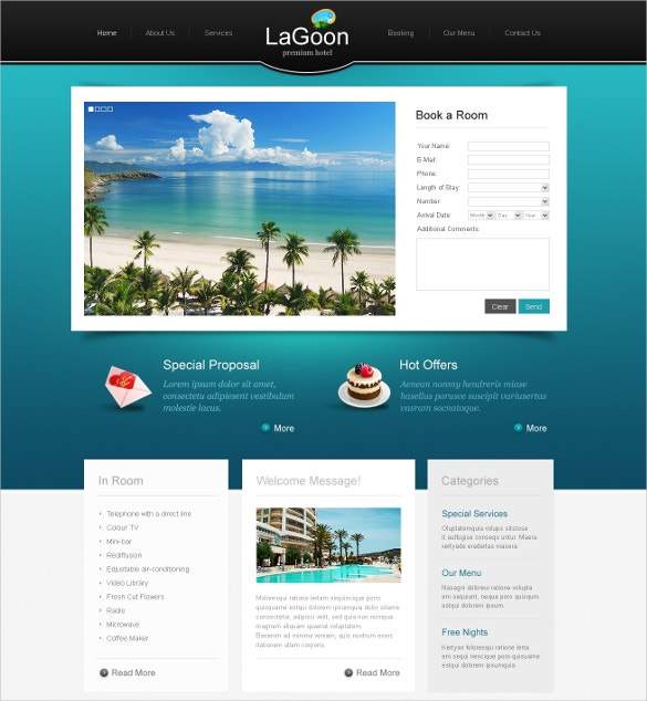 Hotel Room Booking PSD Template