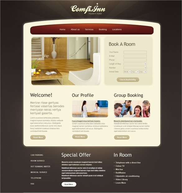 Holiday Hotel PSD Template