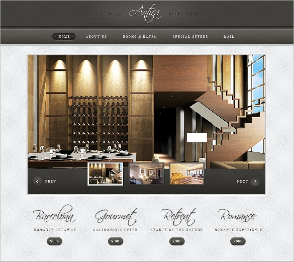 HoneyMoon Hotel PSD Template