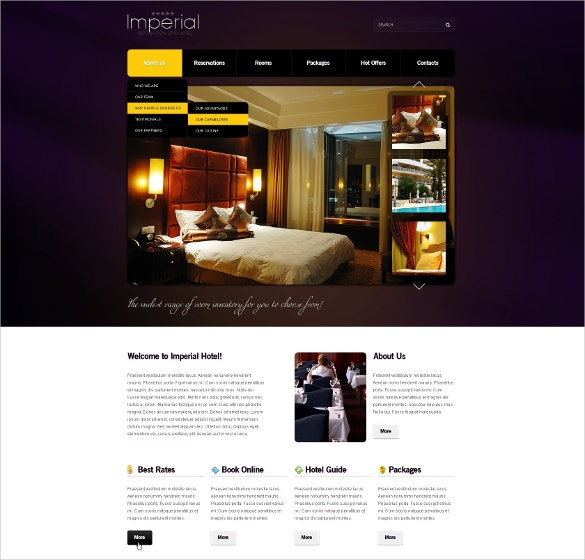 Resort & Hotel PSD Template