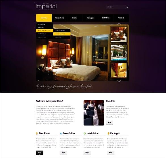 resort hotel psd template