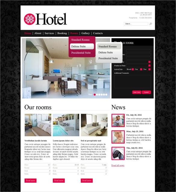 luxury hotel psd template