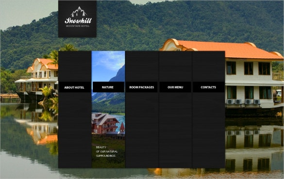 Moutain Hotel PSD Template
