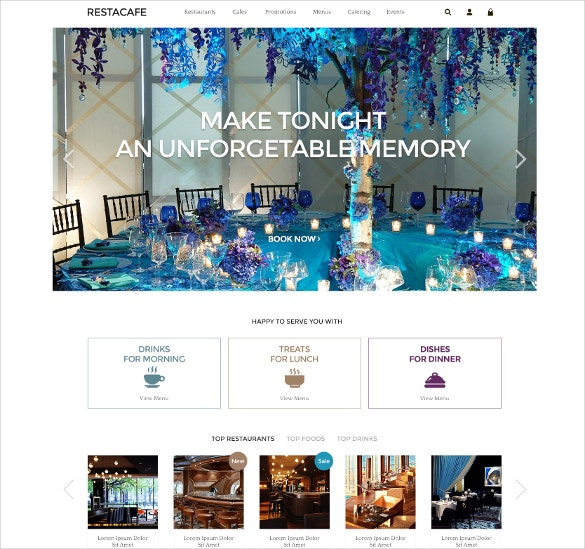 Restaurant & Hotel OpenCart Theme