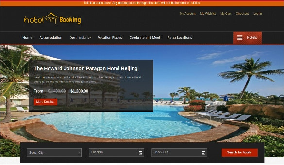 Hotel Booking Magento Theme