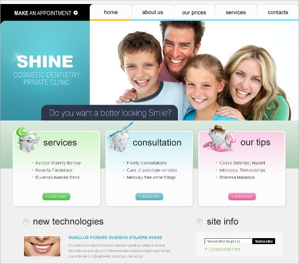 Health Dentist Swish Template