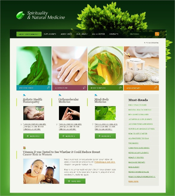 Health Herbal Swish Template