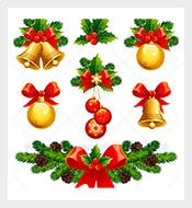 Leaf-Christmas-Ornaments-Templas