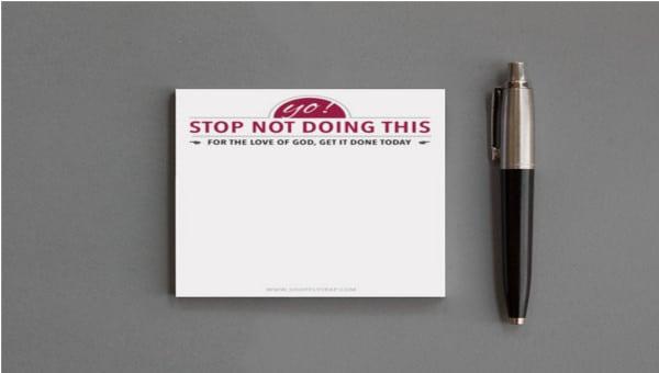 sticky note template