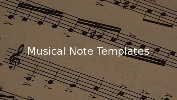 musical note templates