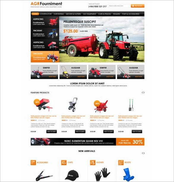 farming equipment prestashop theme