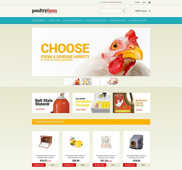 poultry farm prestashop theme