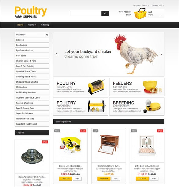 prestashop theme for poultry farm