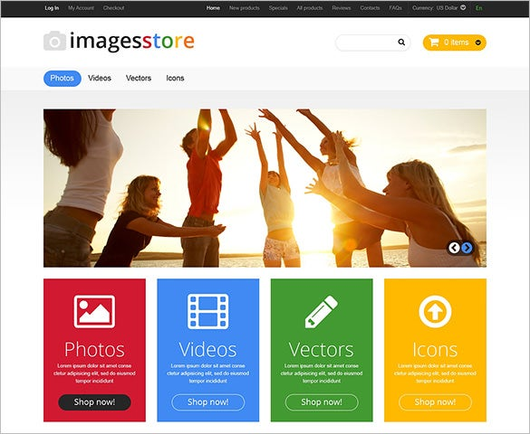 best art store zencart template