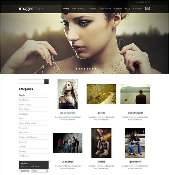 perfect art store zencart template